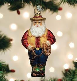 Western Santa Ornament