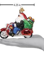 Biker Santa Ornament
