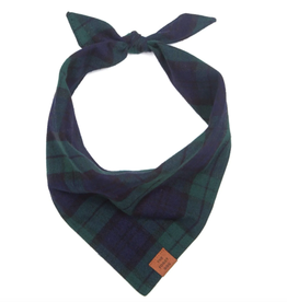 Black Watch Plaid Dog Bandana
