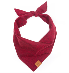 Burgundy Flannel Dog Bandana