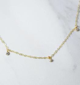 Orion's Belt Diamond Necklace