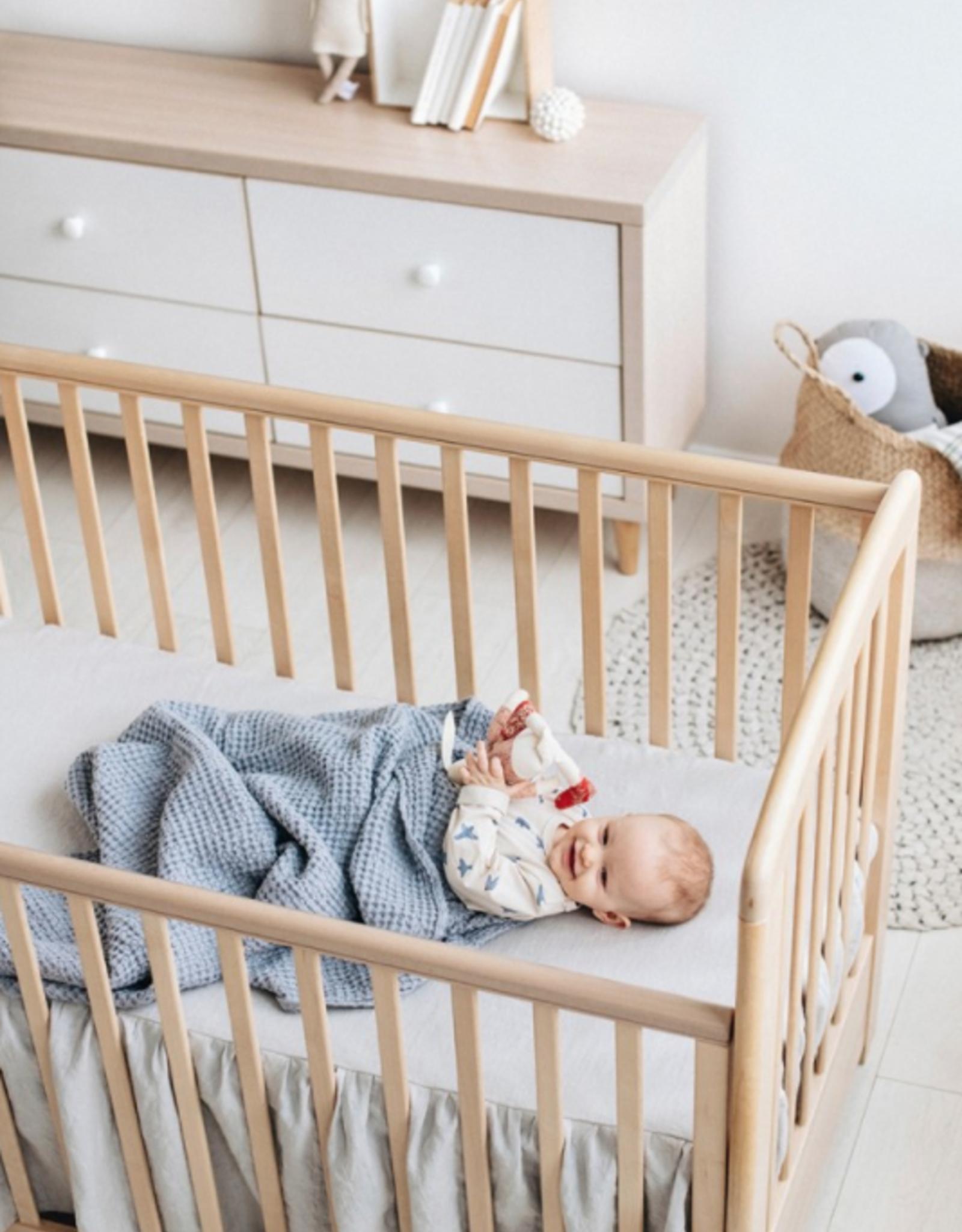Linen Waffle Baby Blanket