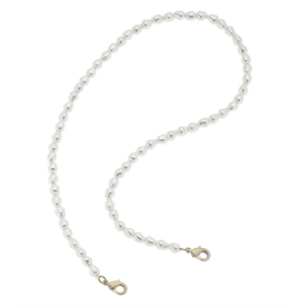Pearl Mask Necklace - 20""