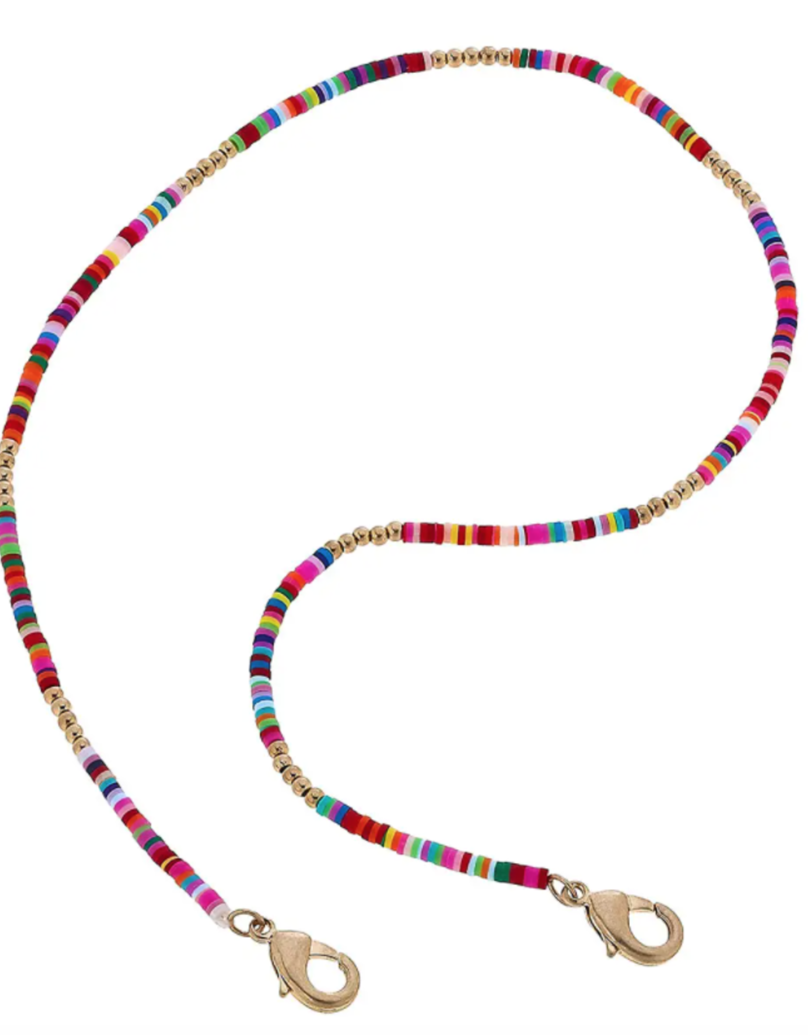 Emberly Color Block Mask Necklace - 20""