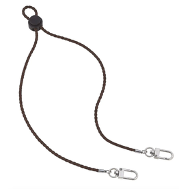 Oliver Men's Faux Leather Mask Lanyard