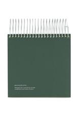 Spiral Notepad - Dark Green