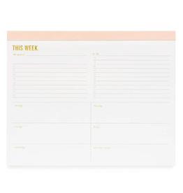 Large Pink Weekly Pad