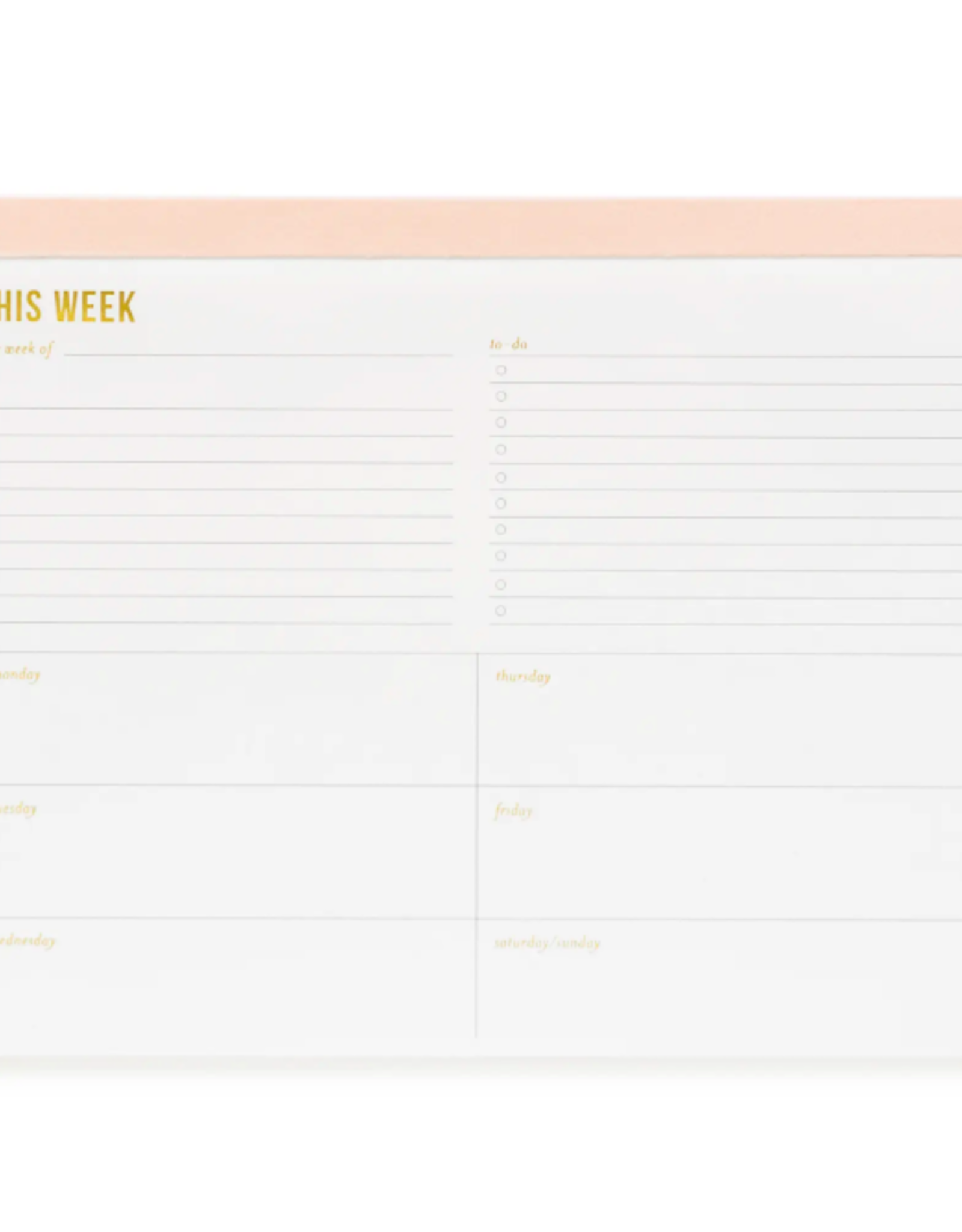 Large Pink Weekly Pad
