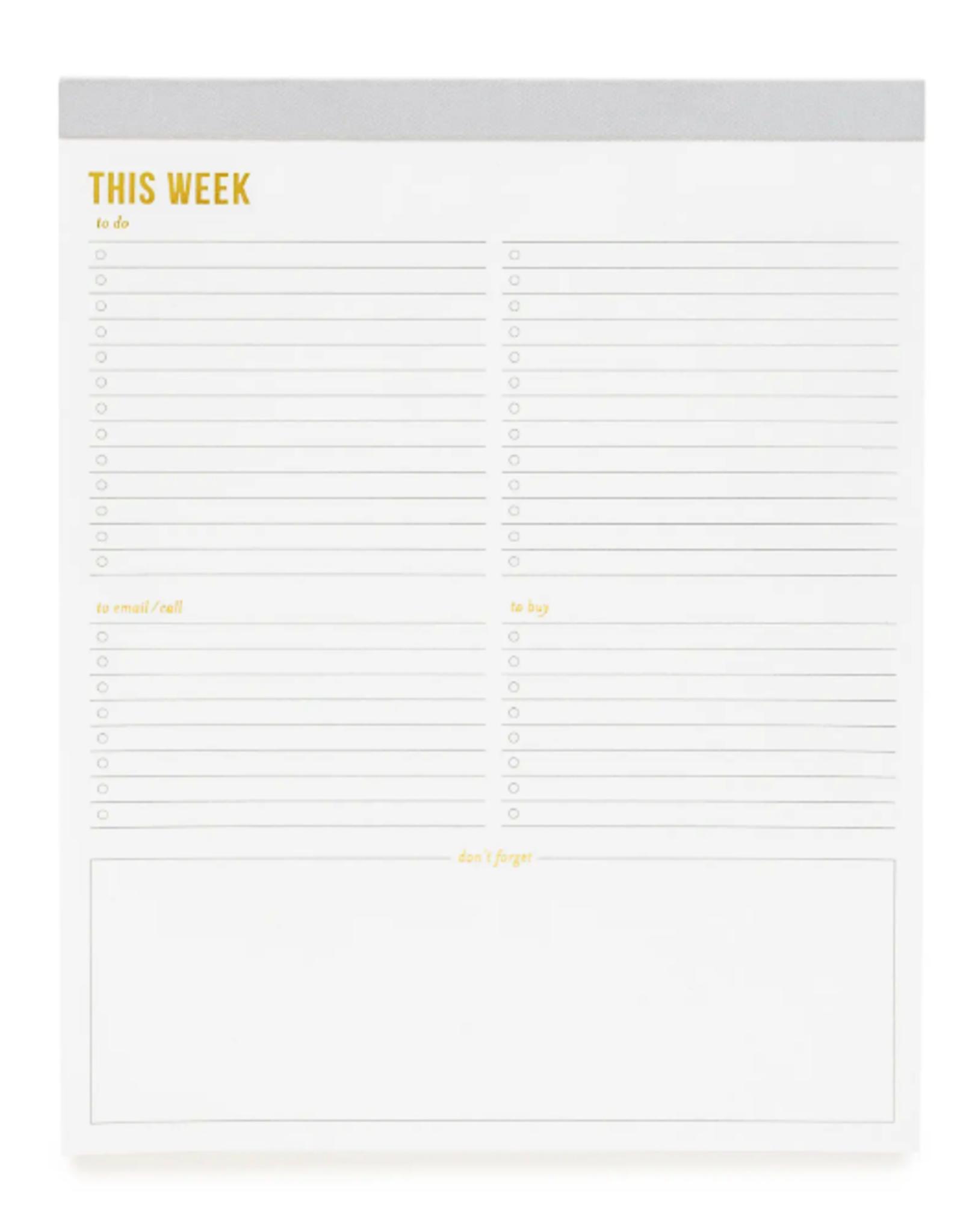 Large Grey Weekly Pad