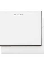 Black Simple Thank You Note - Boxed Set