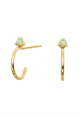 Kristen Hoop Stud Earrings - Opal