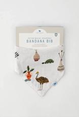 Deluxe Muslin Reversible Bandana Bib - Safari Social