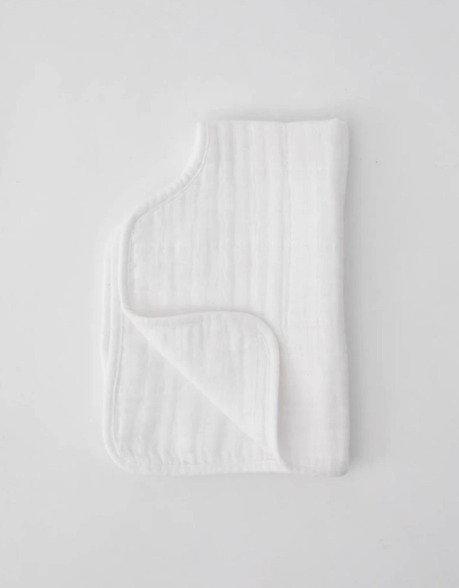 Cotton Muslin Burp Cloth - White