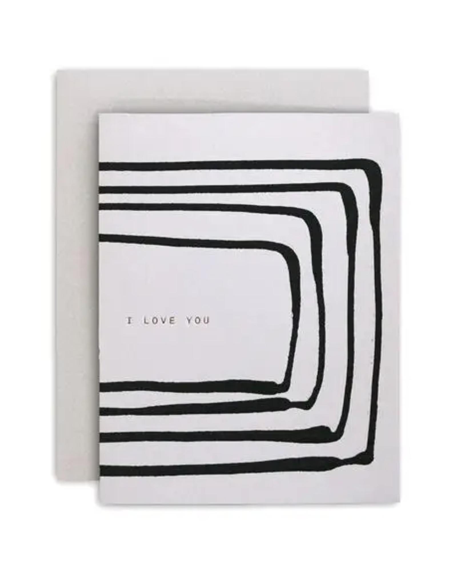 Love You Stripe Card