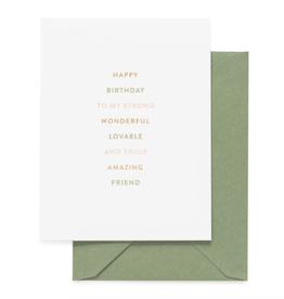 Truly Amazing Friend Birthday Card