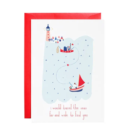 Lovers in the Sea Card