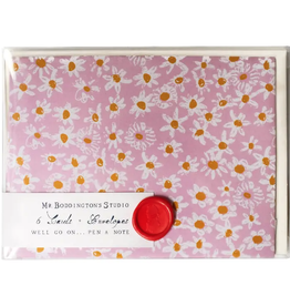 Pink Daisy Fields Box of 6 Notecards