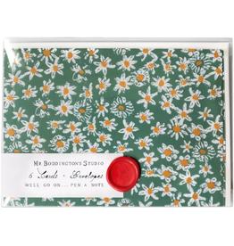 Green Daisy Fields Box of Six Notecards