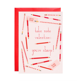 Pencil Me In Valentine's Day Card