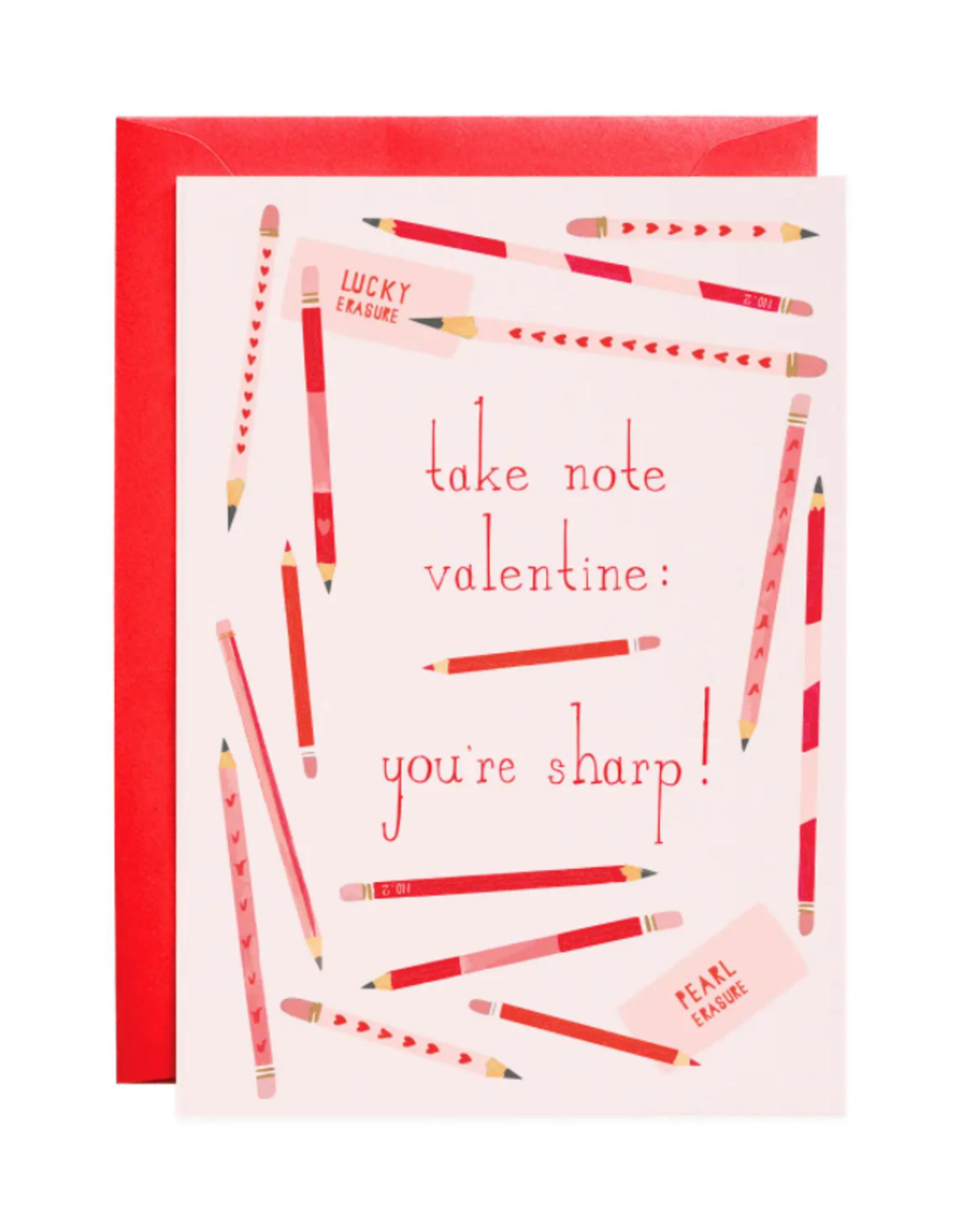 Pencil Me In Valentine's Day Card