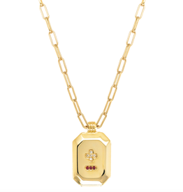 French Love Poem Pendant Necklace