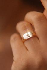 French Love Poem Signet Ring