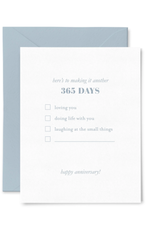 365 Anniversary List Card