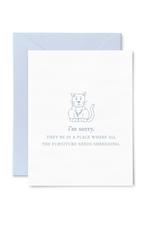 Shredded Furniture Pet Sympathy Card