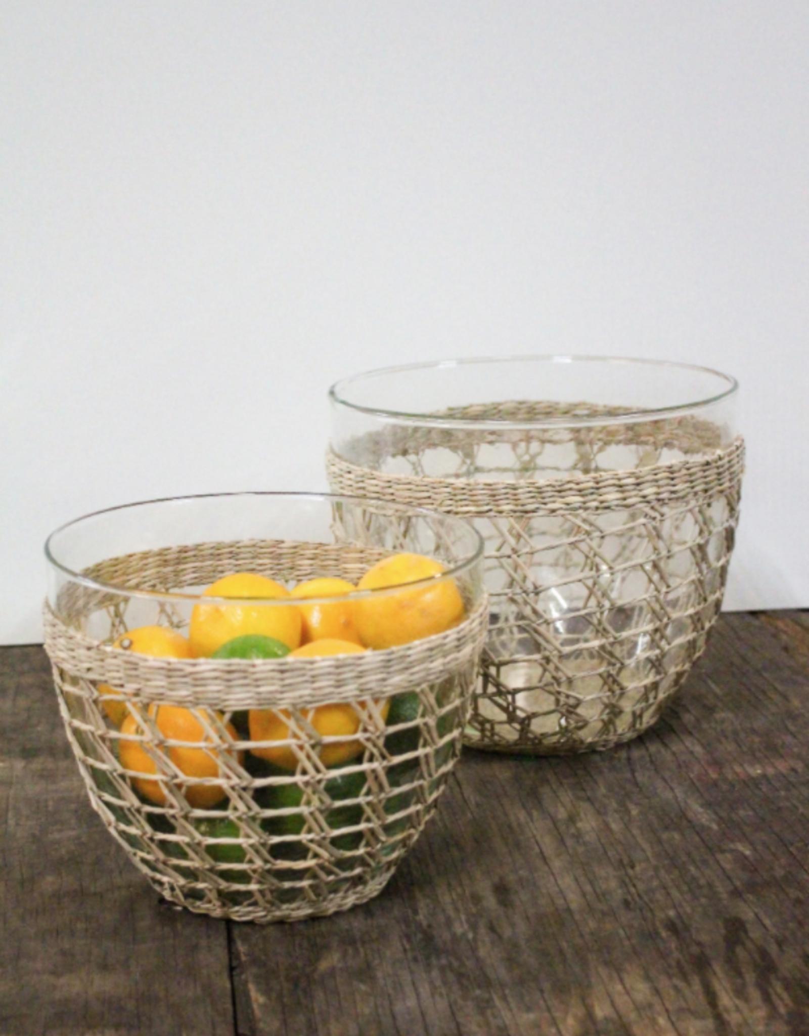 Seagrass Cage Salad Bowl Medium