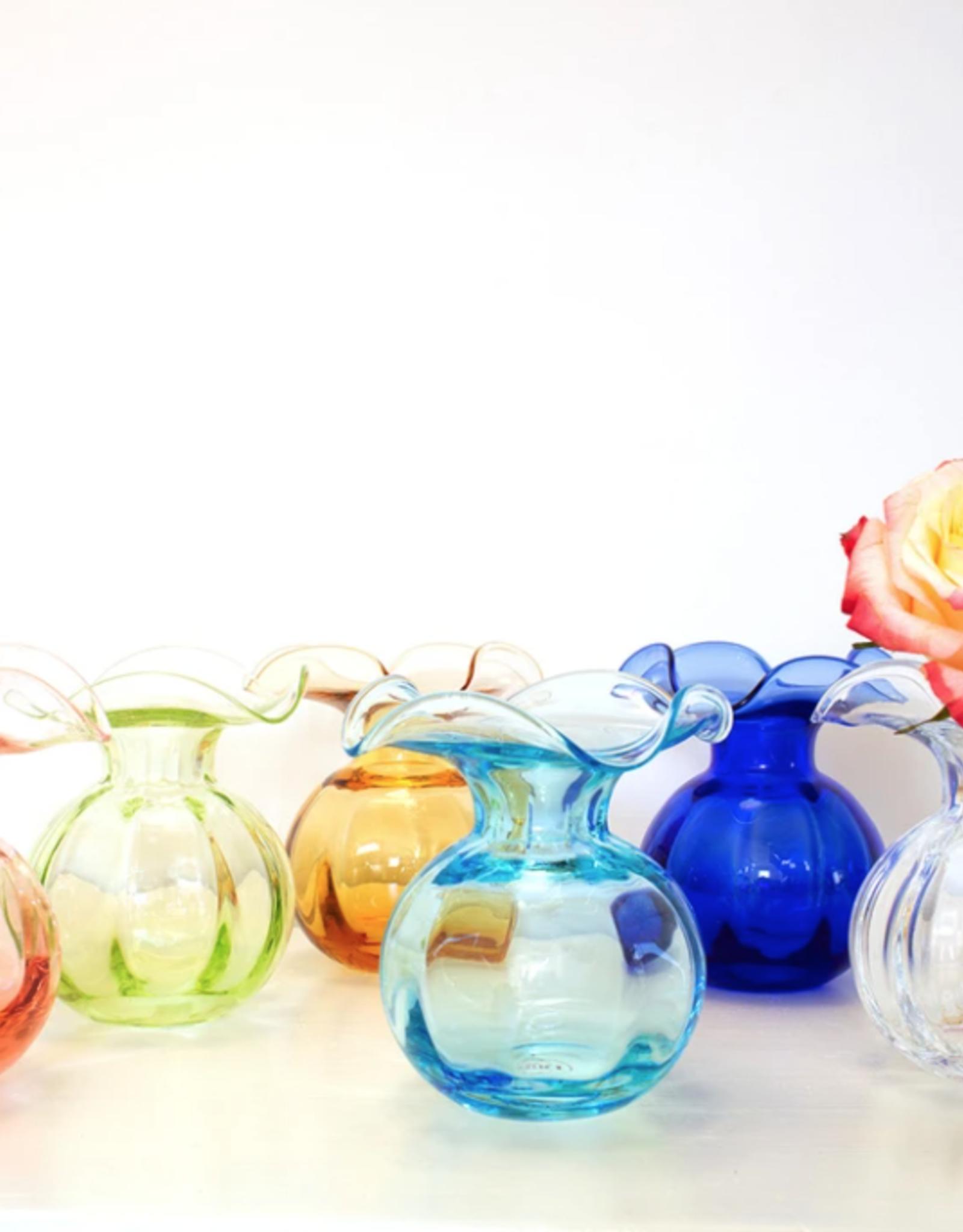 Hibiscus Glass Bud Vase