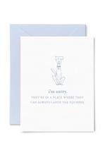 Squirrel Pet Sympathy Card