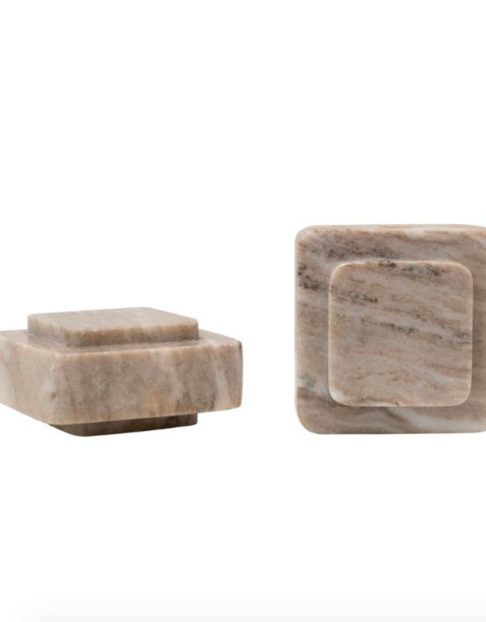 Beige Marble Bookends