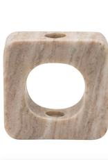 Beige Marble Open View Taper Holder