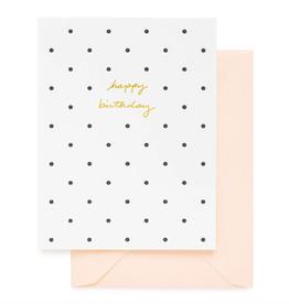 Polka Dot Birthday Card