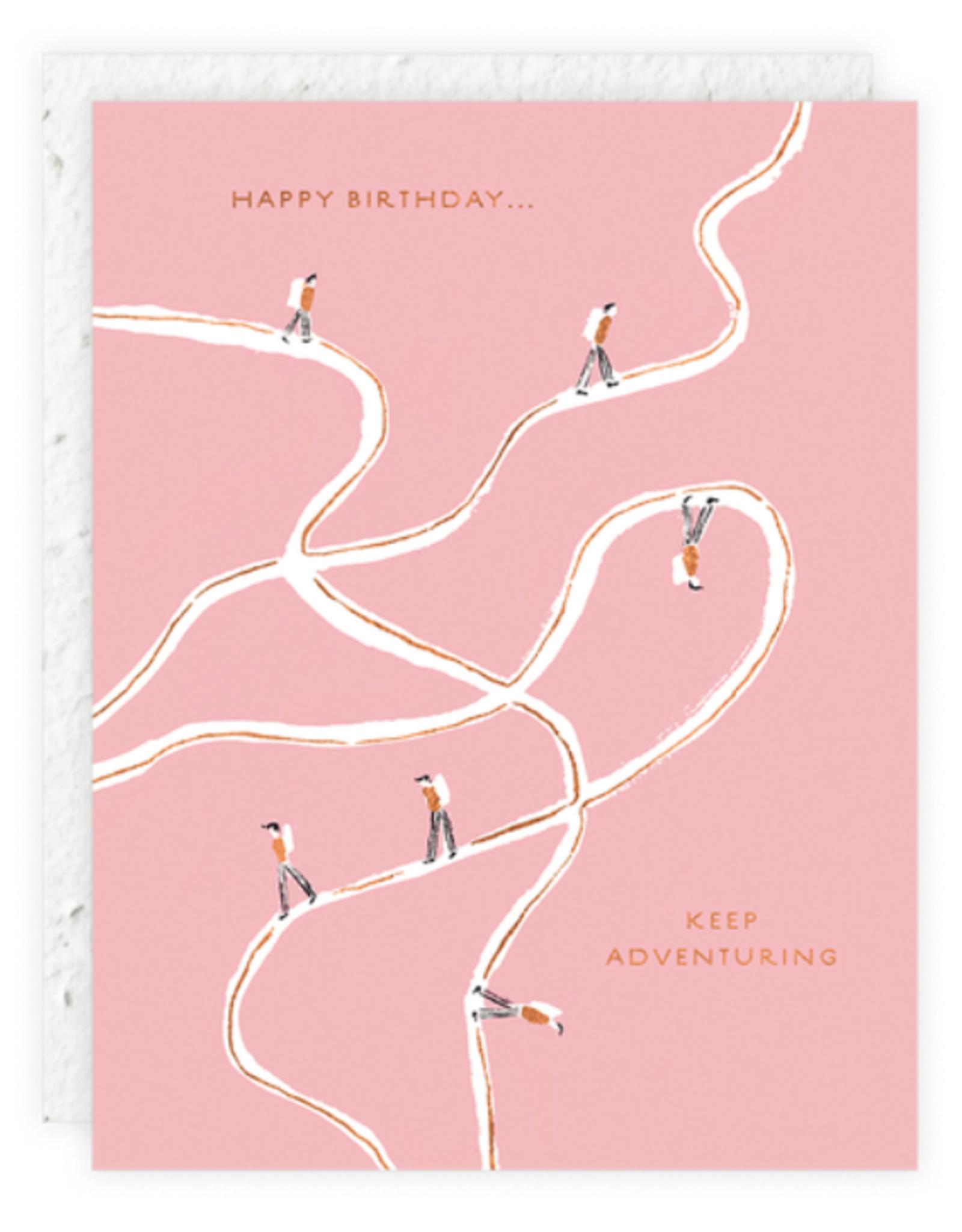 Keep Adventuring Birthday Card