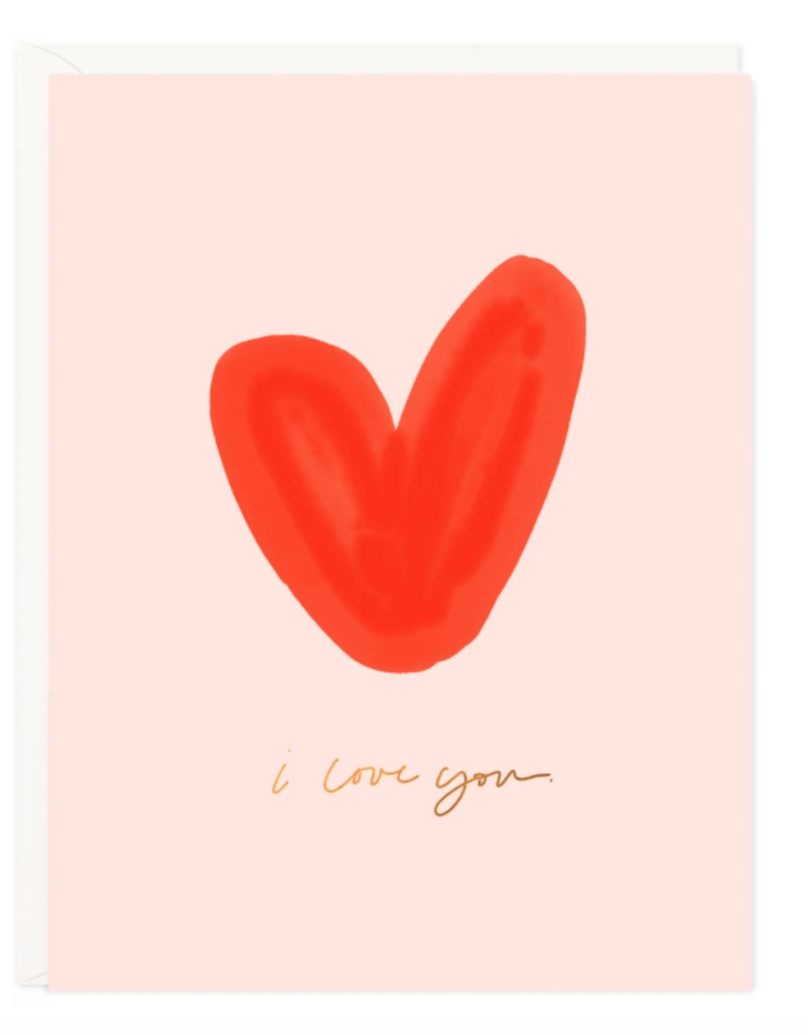I Love You Heart Card