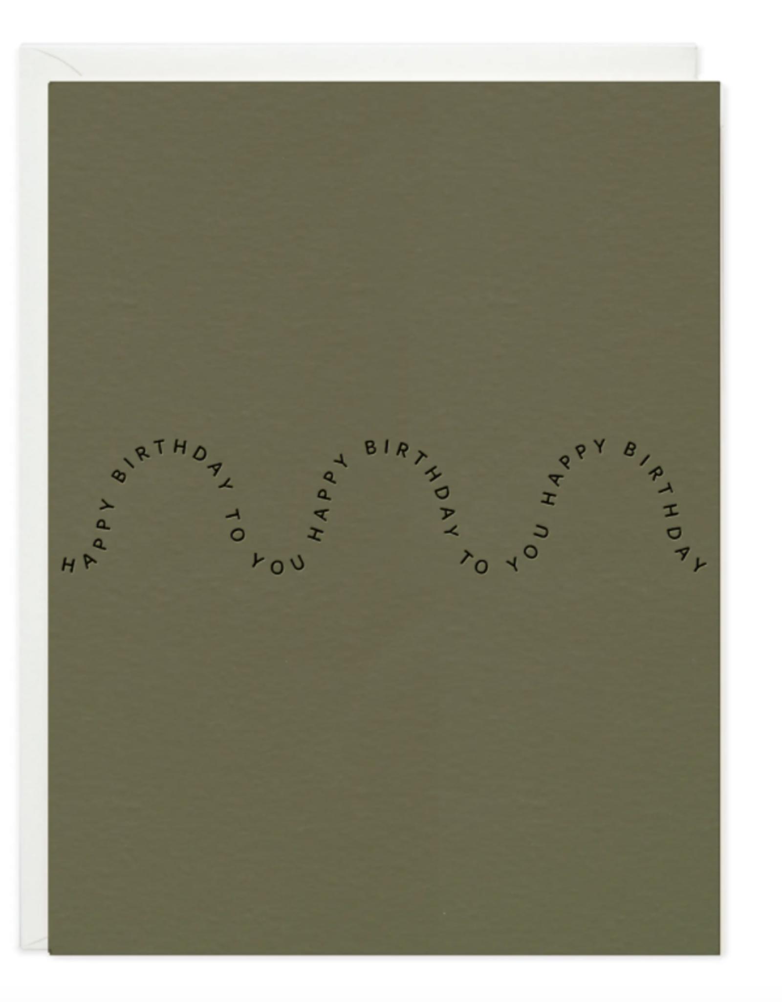 Happy Birthday Wave Card
