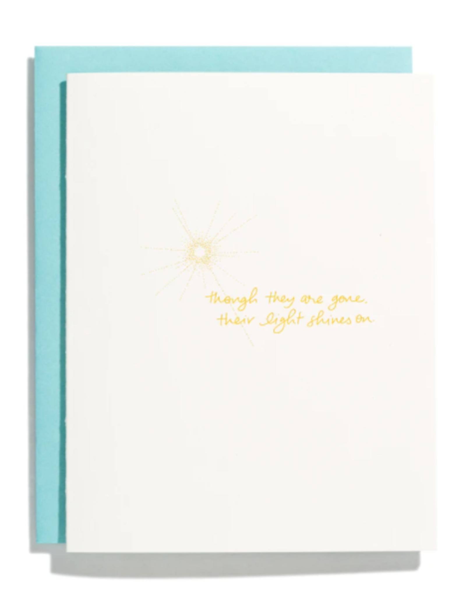 Light Shines On Card