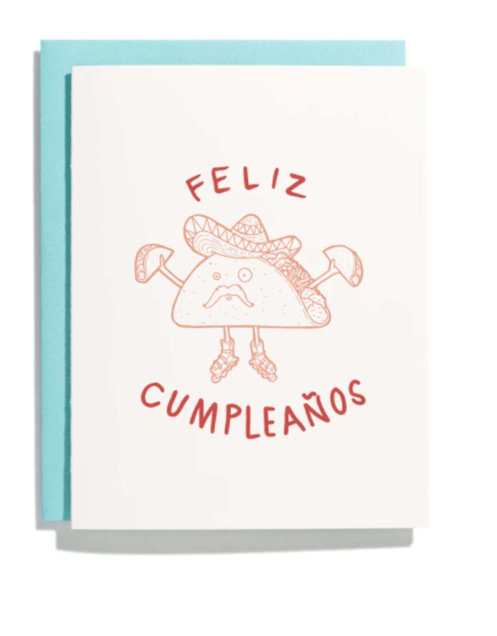 Feliz Cumpleanos Taco Card