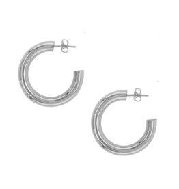 Amour Hoops - Silver