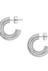 Cenie Mini Tube Hoops - Silver