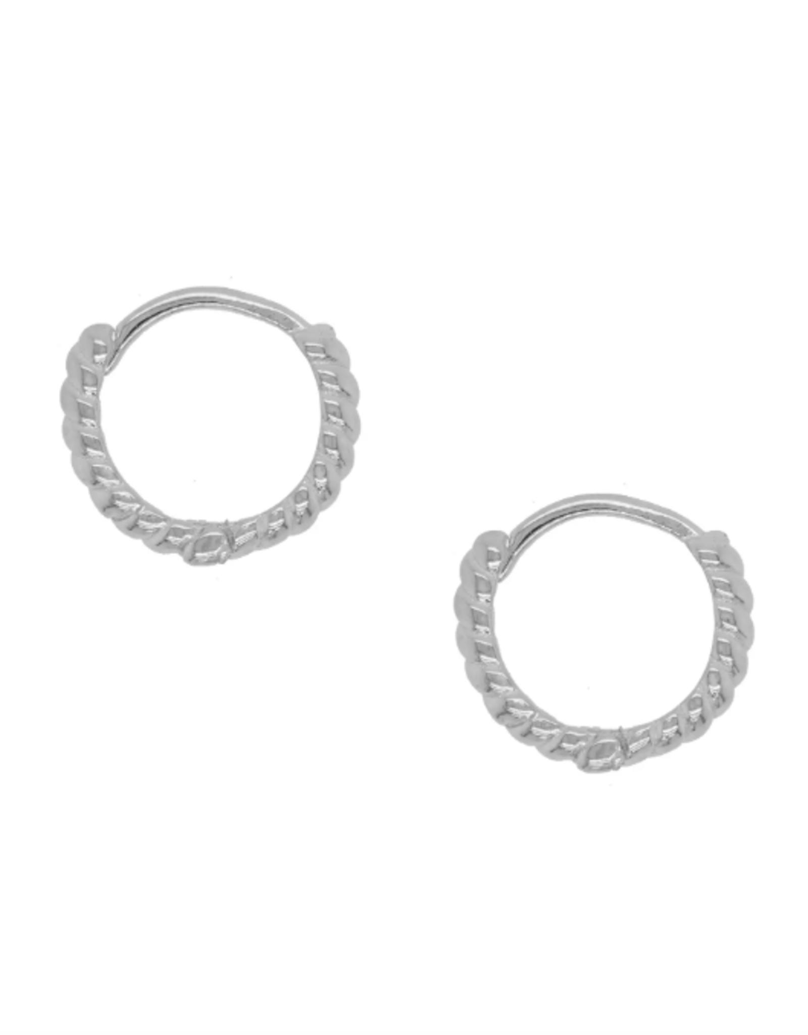 Margaux Vermeil Hoops - Silver