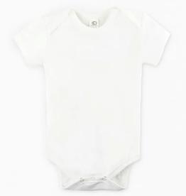 Short Sleeve Classic Bodysuit - White