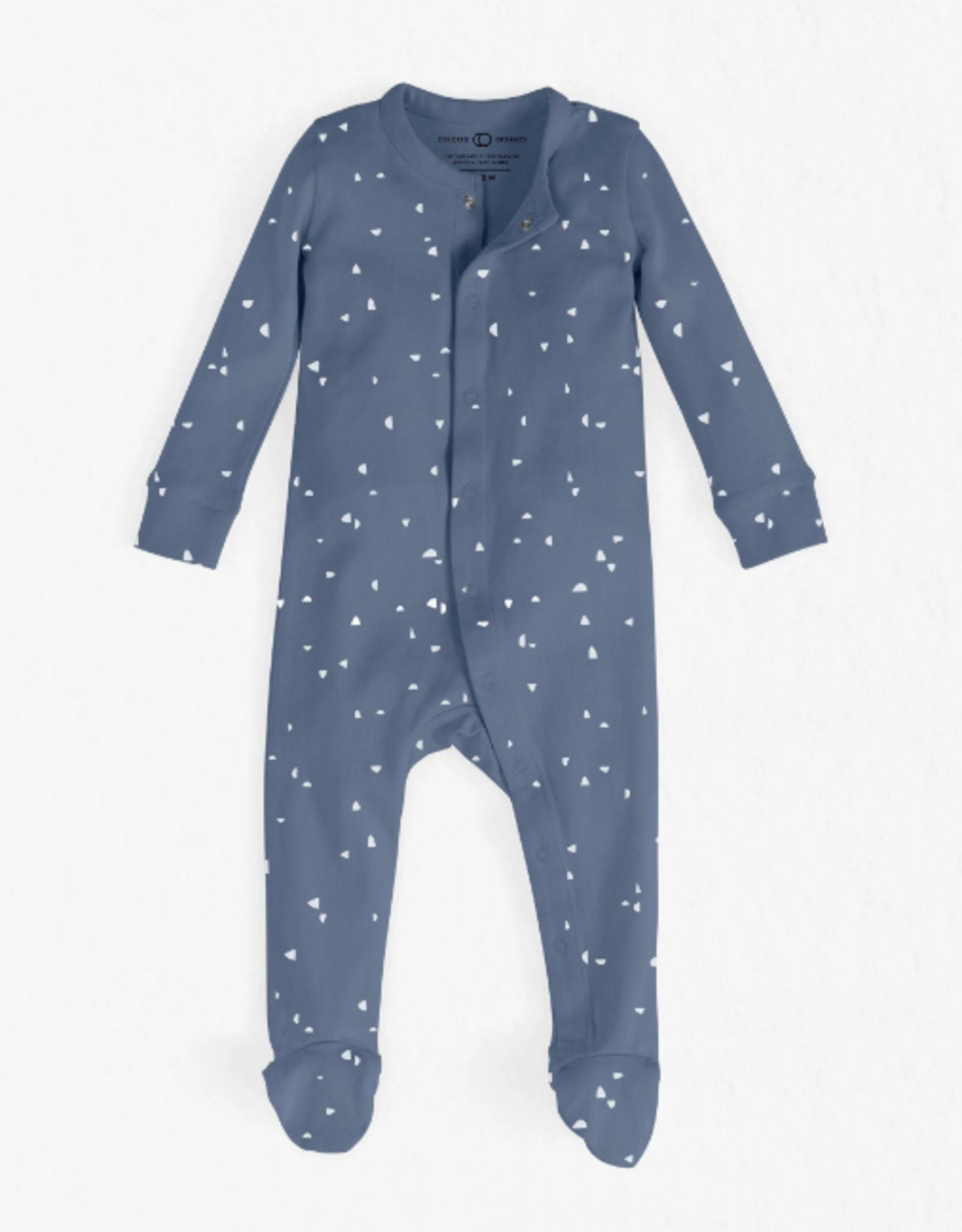Skylar Footed Sleeper - Astro Print
