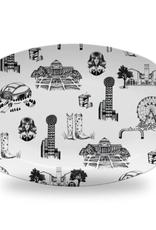 Dallas Toile Platter