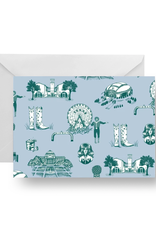 Dallas Toile Folded Notecard Set