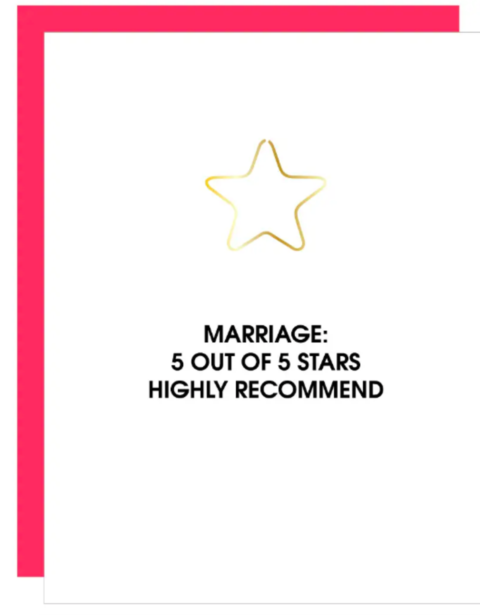 Marriage 5 Stars Paper Clip Card