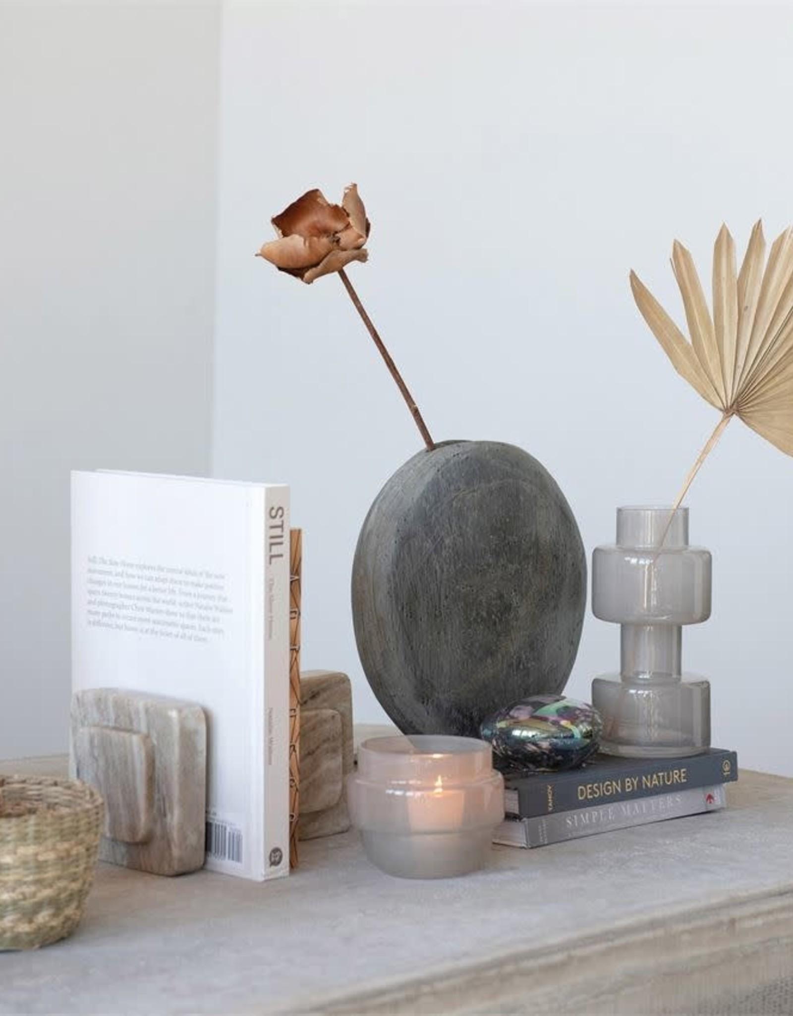 Milky Grey Glass Vase