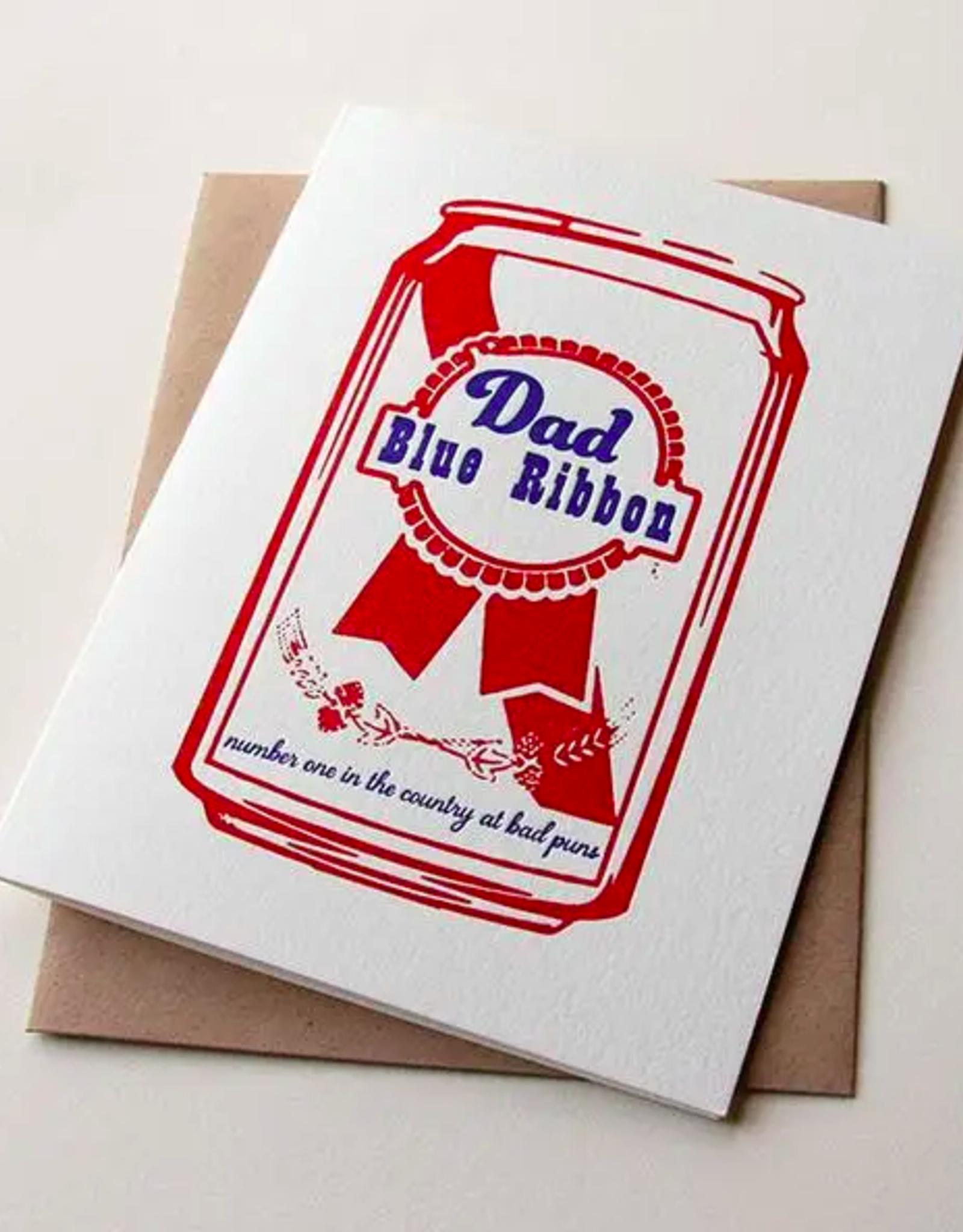 Blue Ribbon Dad Card