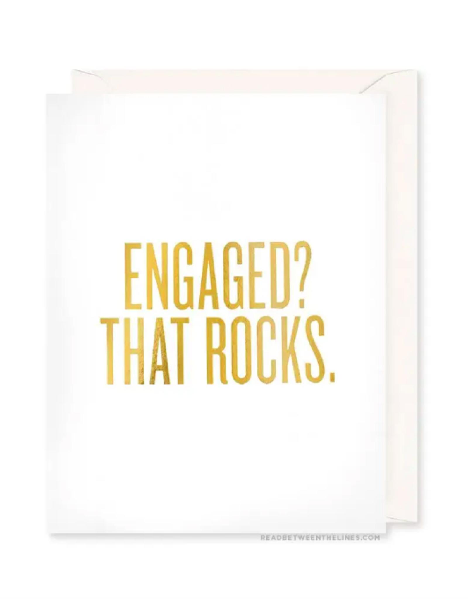 Engaged? That Rocks. Card